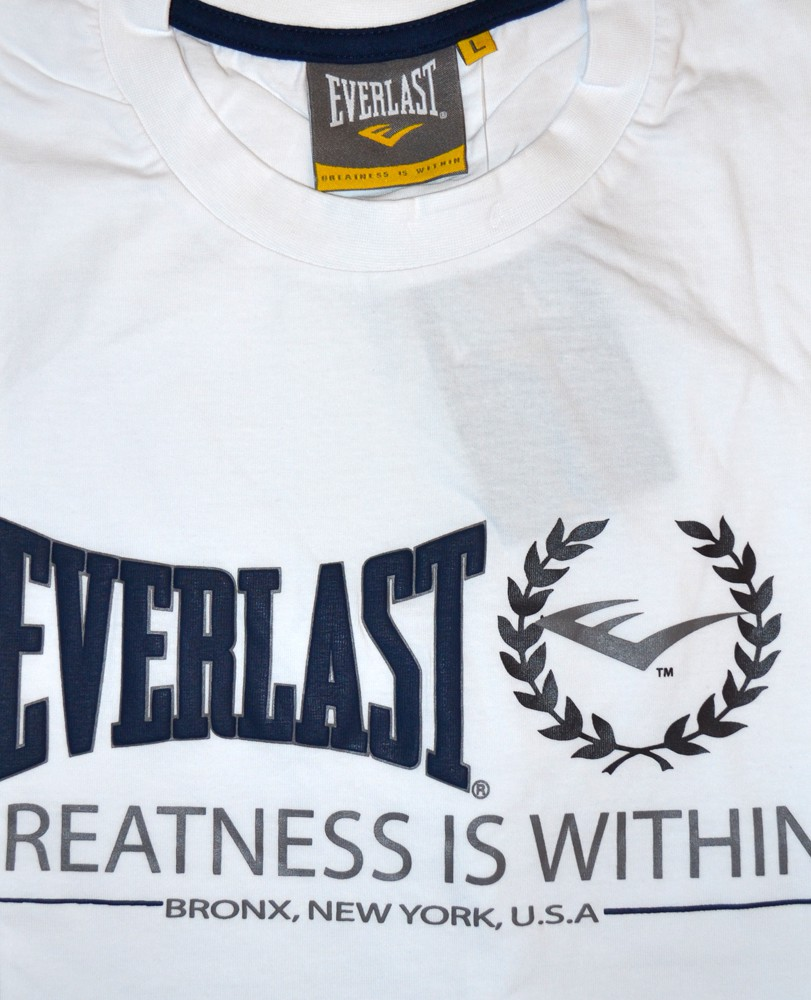 everlast herren t shirt greatness is within schwarz navy. Black Bedroom Furniture Sets. Home Design Ideas