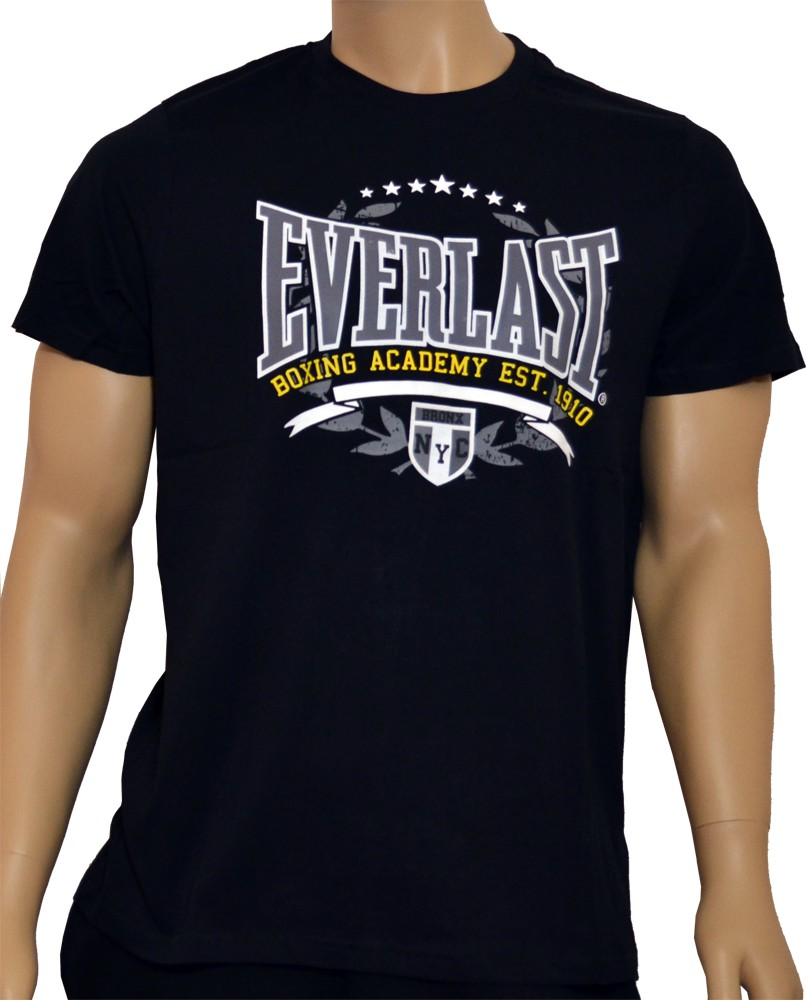 everlast herren t shirt boxing academy schwarz navy wei. Black Bedroom Furniture Sets. Home Design Ideas