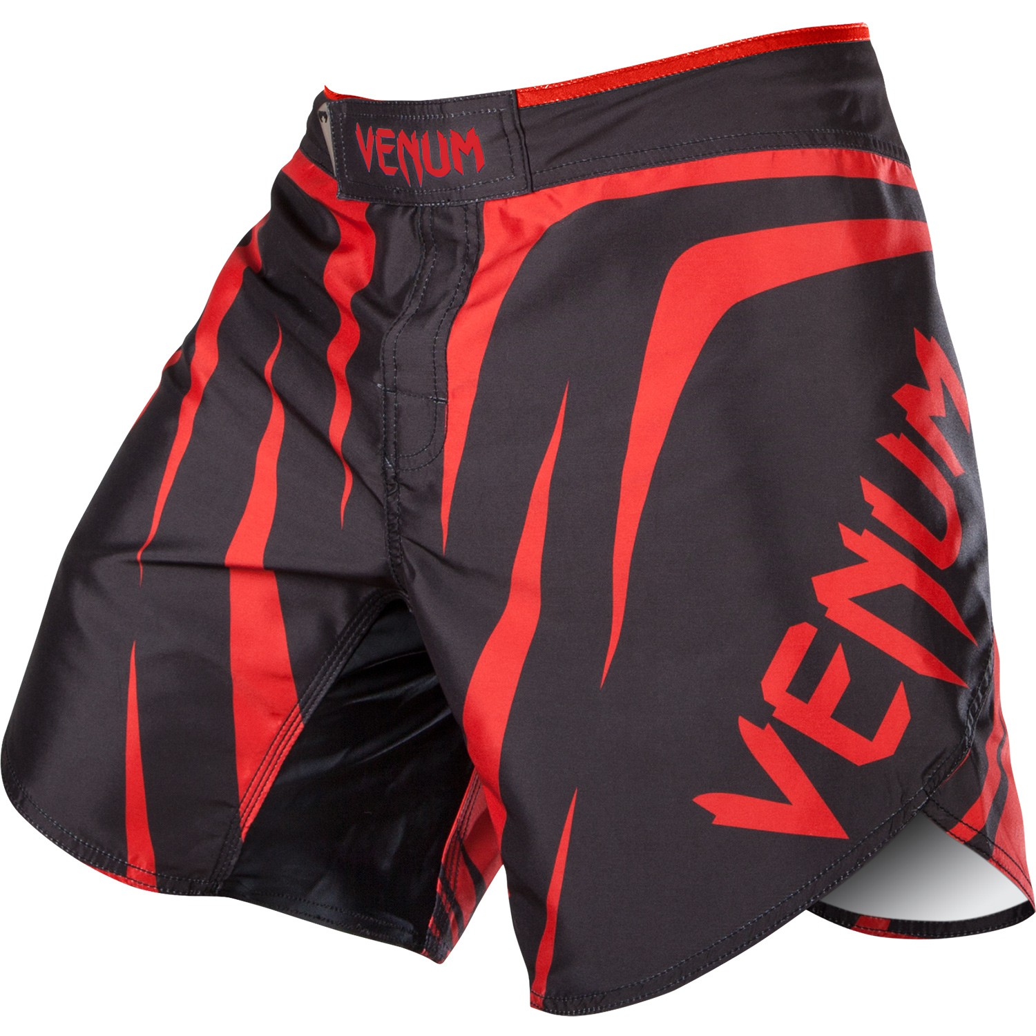 Venum Fight Shorts Sharp schwarz weiß MMA Muay Thai ...